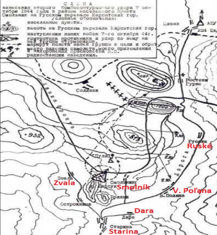 Letecká operácia v priestore Ruského sedla 7.10.1944