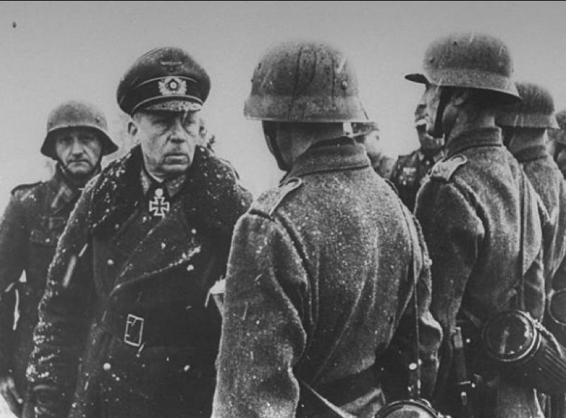 generál Gotthard Heinrici pred nástupom nemeckého vojska